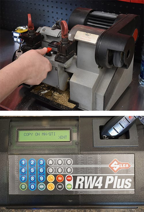 Car key cutting and remote programming equipment