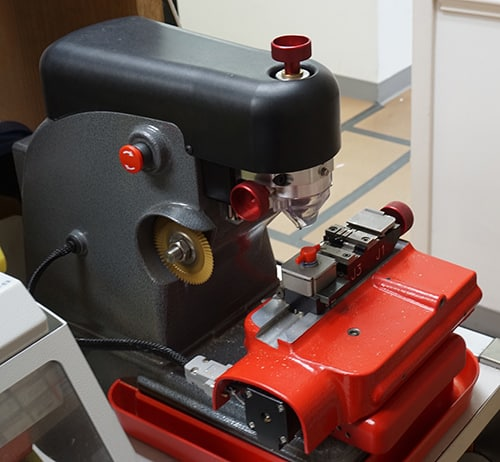 Image of a professional-grade key cutter