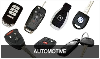 Image of automotive transponder keys, remotes, and fobs